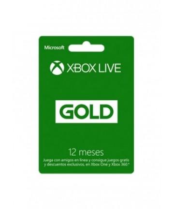 Tarjeta Xbox Live Gold 12...
